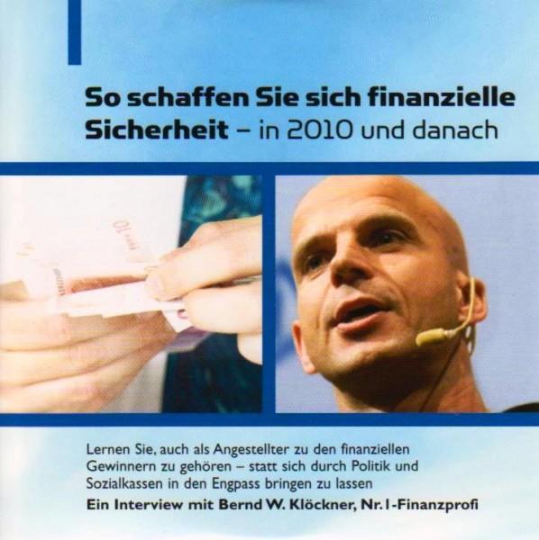 So schaffen Sie sich finanzielle Sicherheit.. [CD]